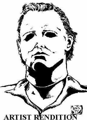 pin michael myers colouring pages on pinterest